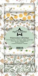 Paper Favourites Watercolour Christmas -paperipakkaus, Slim Line