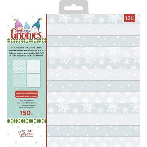 Crafter's Companion Gnomes Vellum & Acetate -paperipakkaus