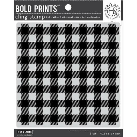 Hero Arts leimasin Buffalo Check Pattern Bold Prints