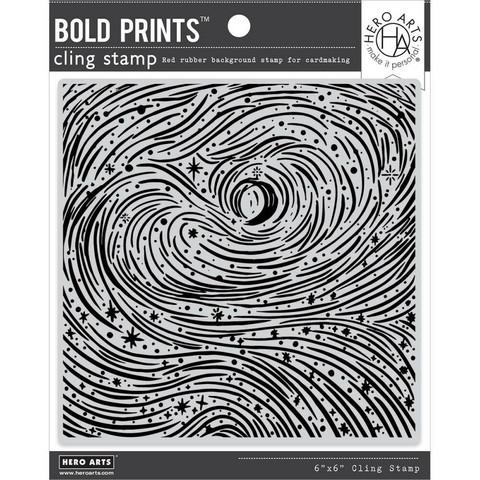 Hero Arts leimasin Etched Winter Swirls Bold Prints