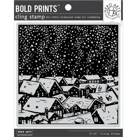 Hero Arts leimasin Snowy Rooftops Bold Prints