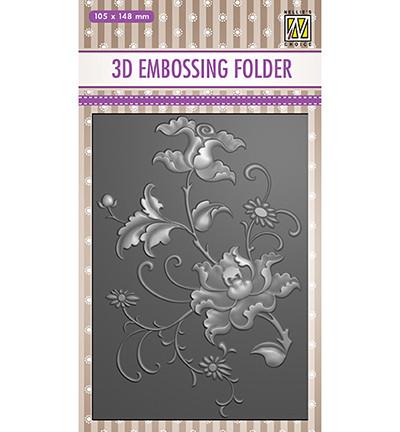 Nellie's Choice 3D kohokuviointikansio Exotic Flower