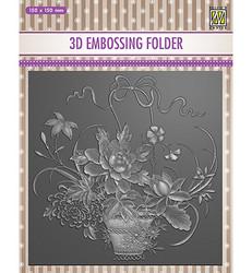 Nellie's Choice 3D kohokuviointikansio Flower Bouquet