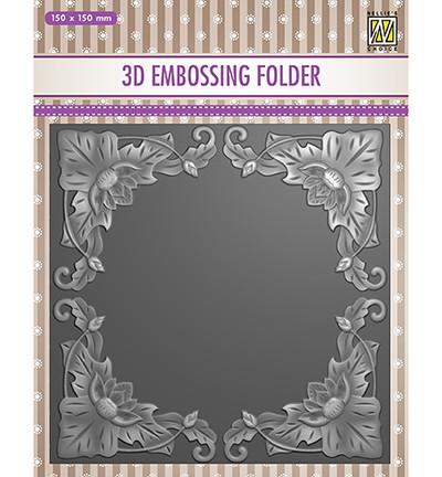 Nellie's Choice 3D kohokuviointikansio Exotic Flower Frame