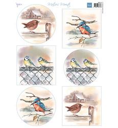 Marianne Design korttikuvat Birds In Winter