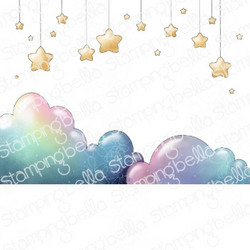 Stamping Bella Stars And Clouds Backdrop -leimasin