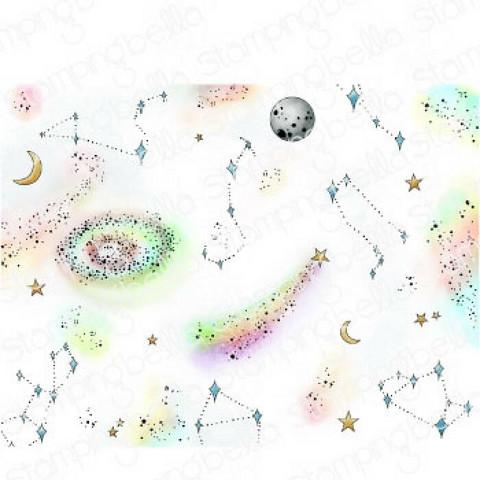 Stamping Bella Starry Sky Backdrop -leimasin