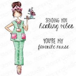 Stamping Bella Curvy Girl Nurse -leimasin