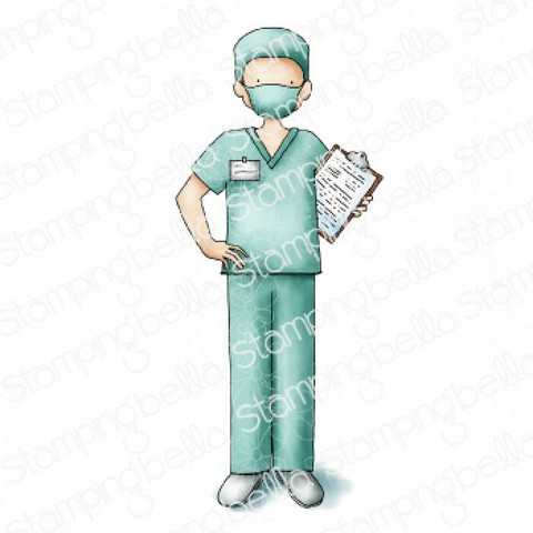Stamping Bella Male Nurse -leimasin