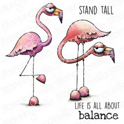 Stamping Bella Oddball Flamingos -leimasin