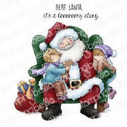 Stamping Bella Tiny Townies on Santa's Lap -leimasin