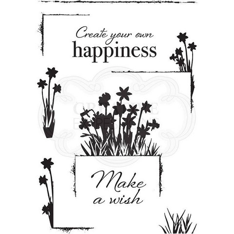 Creative Expressions Delicate Daffodils -leimasin