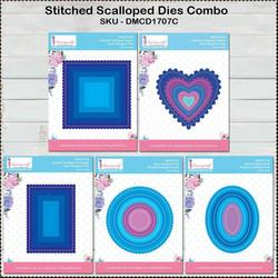 Dress My Craft Basic Designer stanssisetti Stitched Scalloped Combo