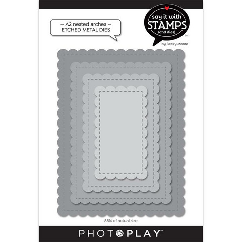 PhotoPlay stanssi A2 Nested Stitched Scallops