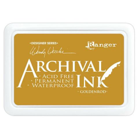 Archival Ink -mustetyyny, sävy Goldenrod