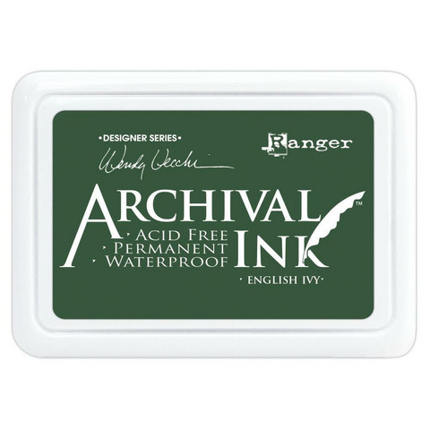 Archival Ink -mustetyyny, sävy English Ivy