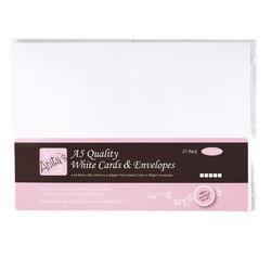 Anita's korttipohjat ja kirjekuoret, A5, valkoinen, 25 kpl