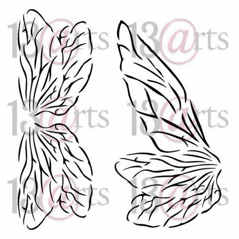 13@rts Mixed Media sapluuna Fairy Wings