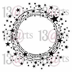 13@rts Mixed Media sapluuna Circle of Stars