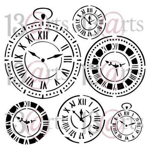 13@rts Mixed Media sapluuna Clocks