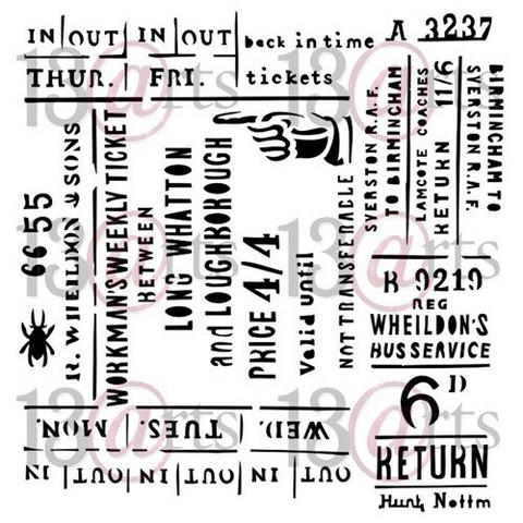 13@rts Mixed Media sapluuna Return Ticket