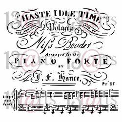 13@rts Mixed Media sapluuna Piano Forte