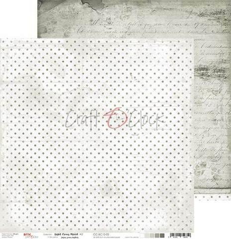 Craft O'clock skräppipaperi Light Gray Mood 02