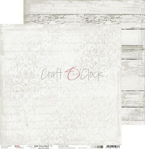Craft O'clock skräppipaperi Light Gray Mood 03