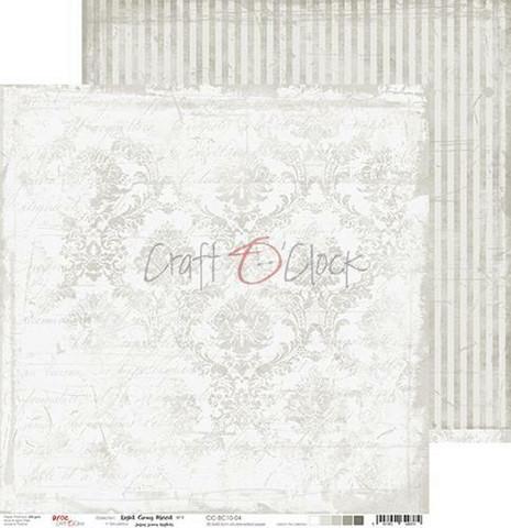 Craft O'clock skräppipaperi Light Gray Mood 04