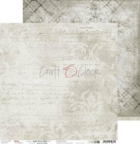Craft O'clock skräppipaperi Light Gray Mood 05