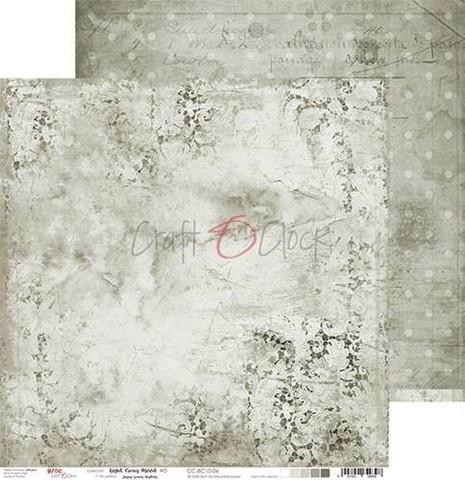 Craft O'clock skräppipaperi Light Gray Mood 06