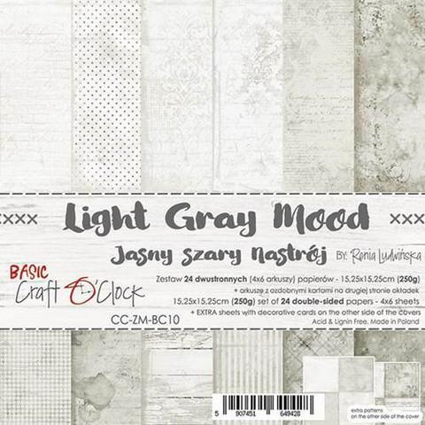 Craft O'clock paperipakkaus Light Gray Mood