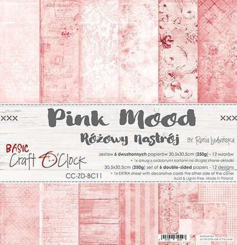 Craft O'clock paperipakkaus Pink Mood, 12