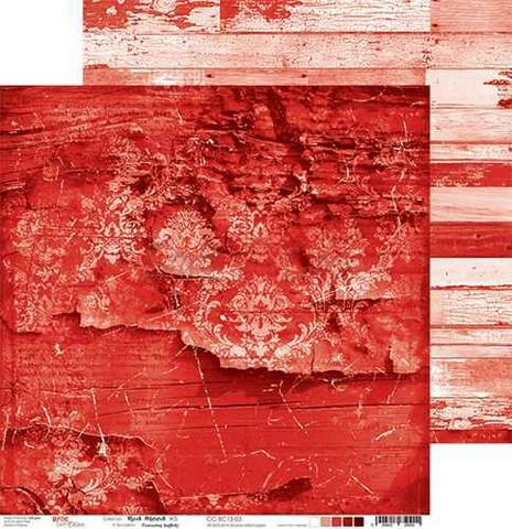 Craft O'clock skräppipaperi Red Mood 03