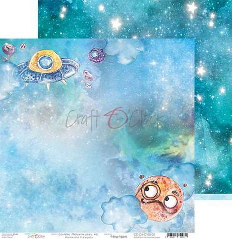 Craft O'clock skräppipaperi Cosmic Adventures 02