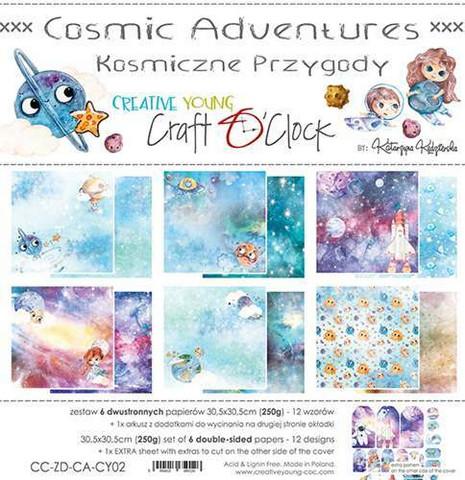 Craft O'clock paperipakkaus Cosmic Adventures, 12