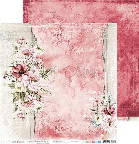 Craft O'clock skräppipaperi Flower Fiesta 01