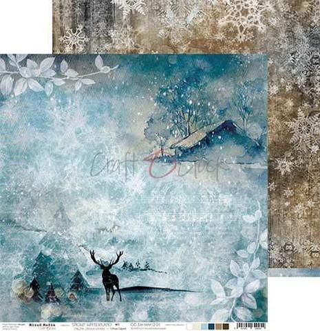 Craft O'clock skräppipaperi Snowy Winterland 01