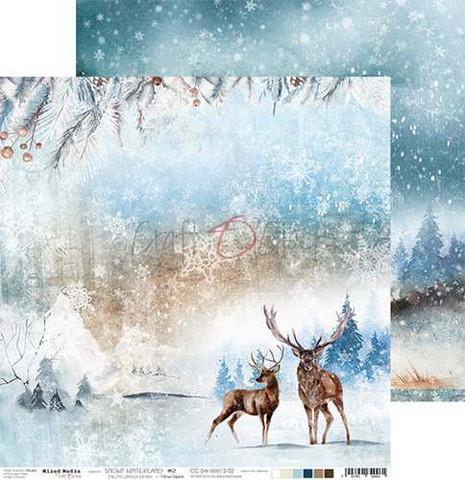 Craft O'clock skräppipaperi Snowy Winterland 02