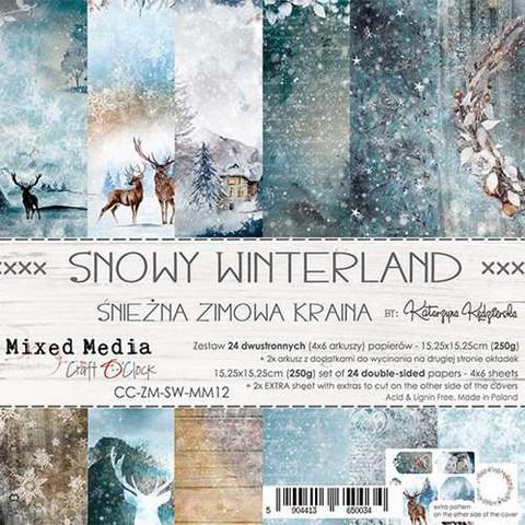 Craft O'clock paperipakkaus Snowy Winterland