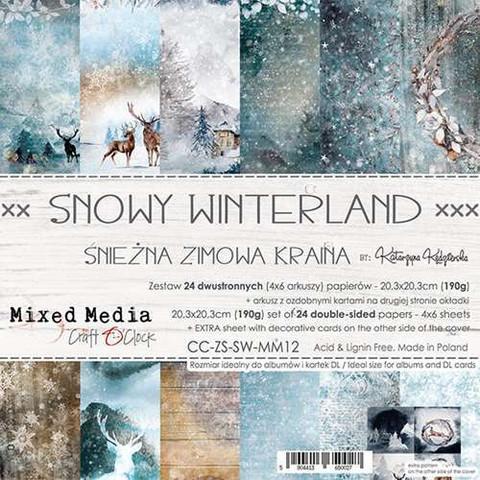 Craft O'clock paperipakkaus Snowy Winterland, 8