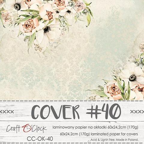 Craft O'clock Cover -paperi 40, Blooming Retreat, 60 x 24.2 cm