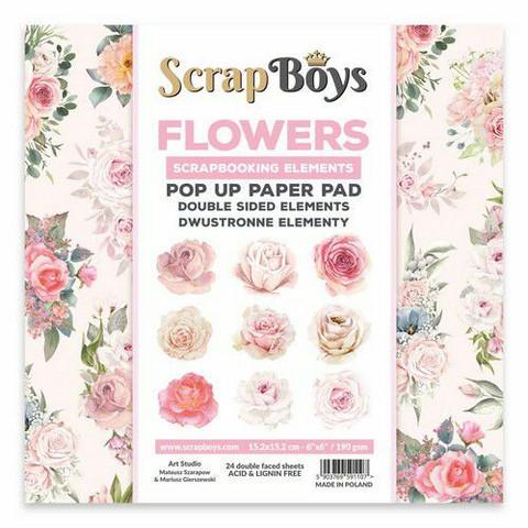 ScrapBoys leikekuva-paperikko Flowers / Roses