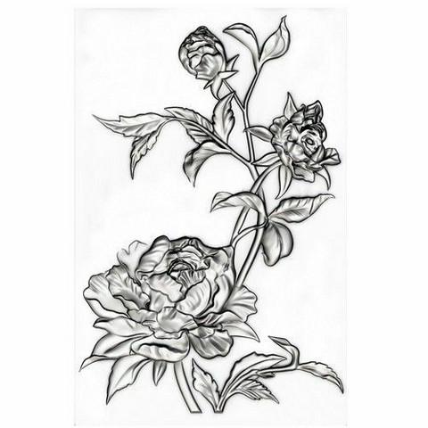Sizzix 3-D Texture Fades kohokuviointikansio Mini Roses