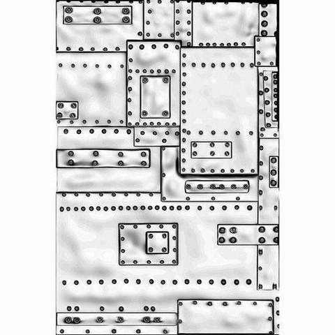 Sizzix 3-D Texture Fades kohokuviointikansio Mini Foundry