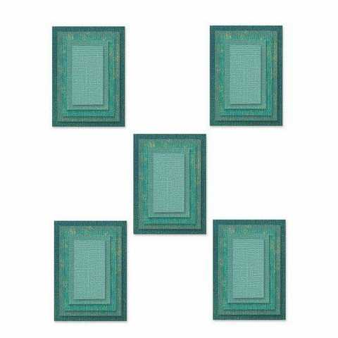 Sizzix Thinlits stanssisetti Stacked Tiles, Rectangles