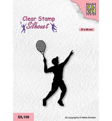 Nellie's Choice Silhouet leimasin Tennis Player