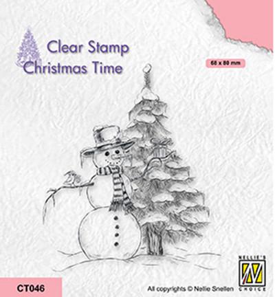 Nellie's Choice Christmas Time leimasin Snowman