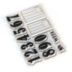 Elizabeth Craft Designs leimasin Pieces Of Life: Numbers & Labels