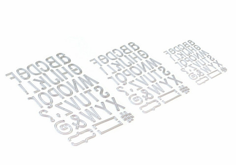 Elizabeth Craft Designs stanssi Planner Essentials 23, Retro Alphabet Trio